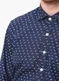 Network Slim Fit Uzun Kollu Gömlek Lacivert